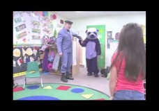 Purple Panda Scares Kids